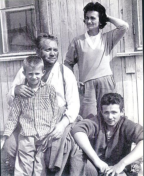 S manželkou Evou a syny.
