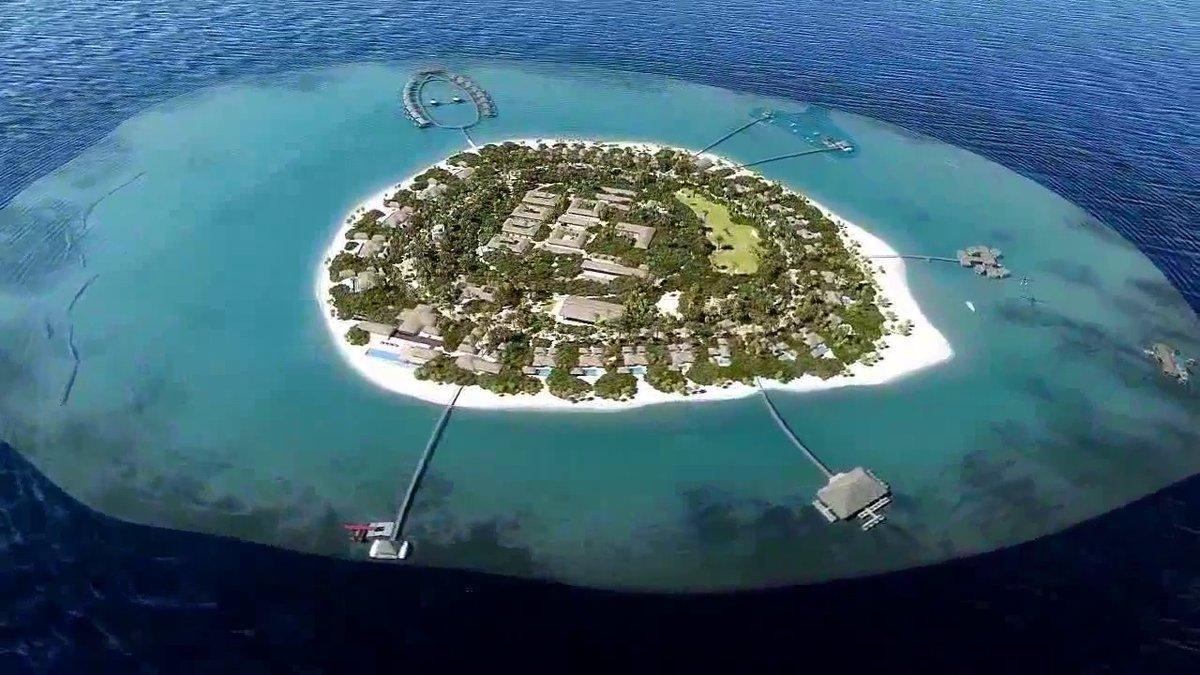 Letecký pohled na Šmejcův ostrov v Indickém oceánu