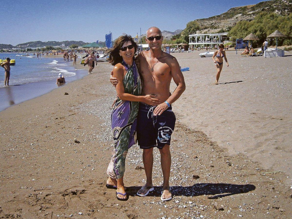 Josef Carda s manželkou.