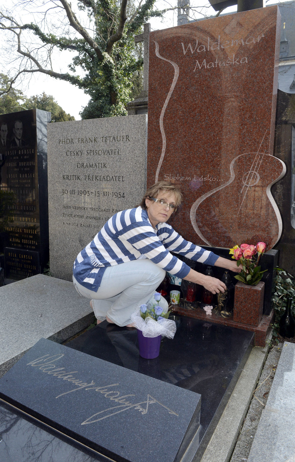 Olga přinesla Waldovi růže