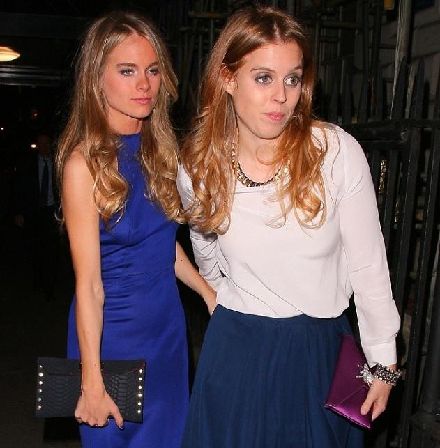 Cressida byla vyfocená s princeznou Beatrice na party v jednom z londýnských klubů.