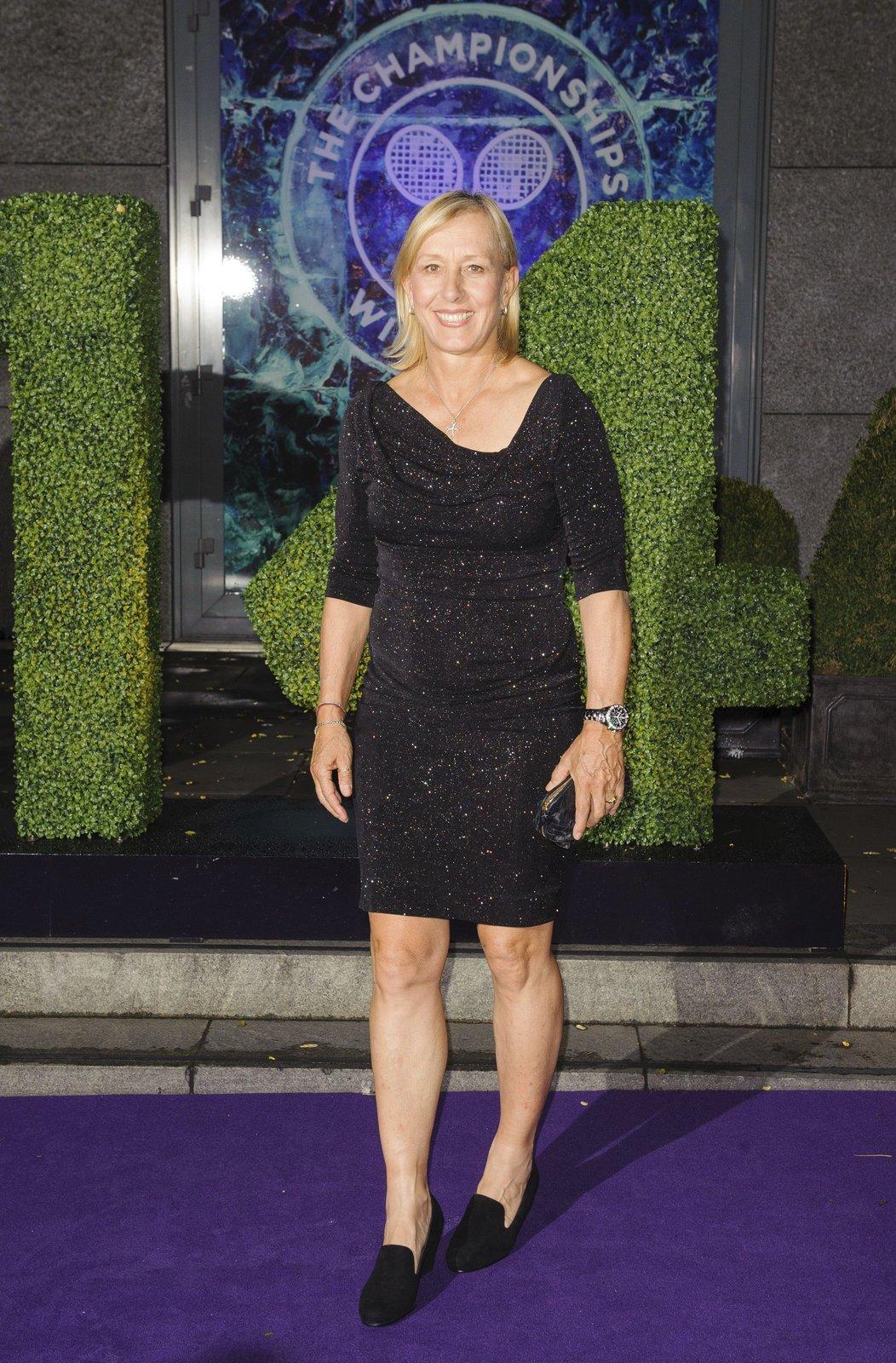 Martina Navrátilová na slavnostním banketu na závěr Wimbledonu