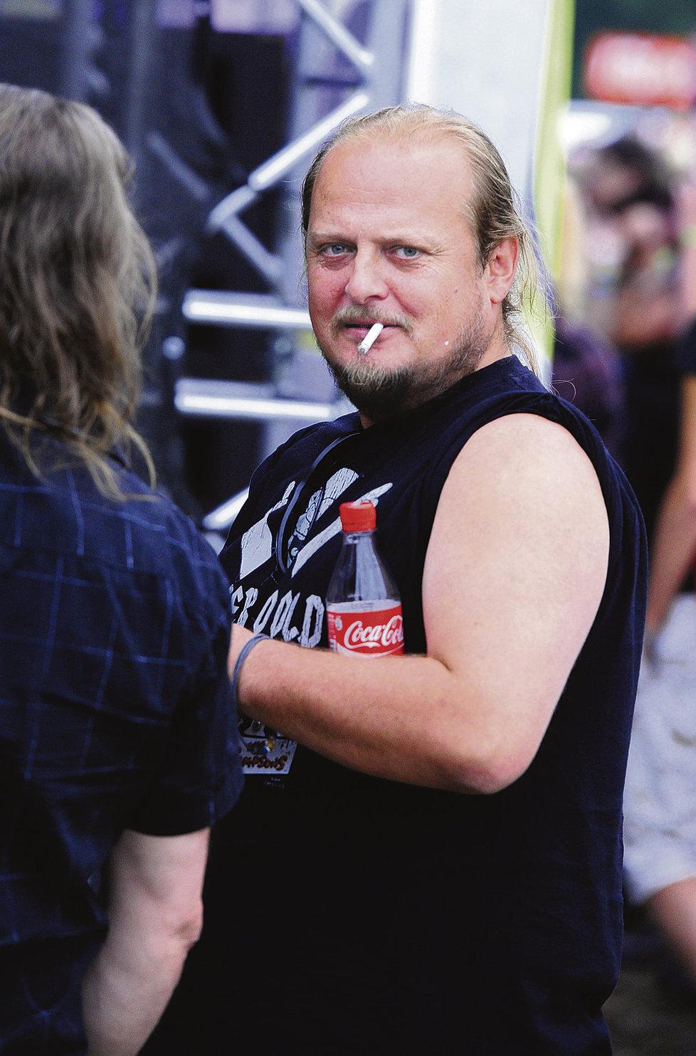 2010 Vrchol Křížkovy obezity, kdy vážil 115 kilo.