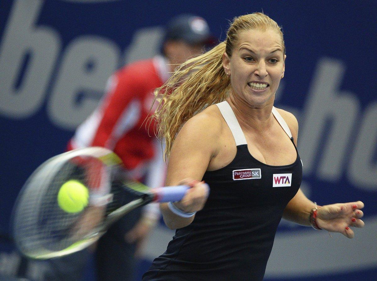 Dominika Cibulková na turnaji v Linci