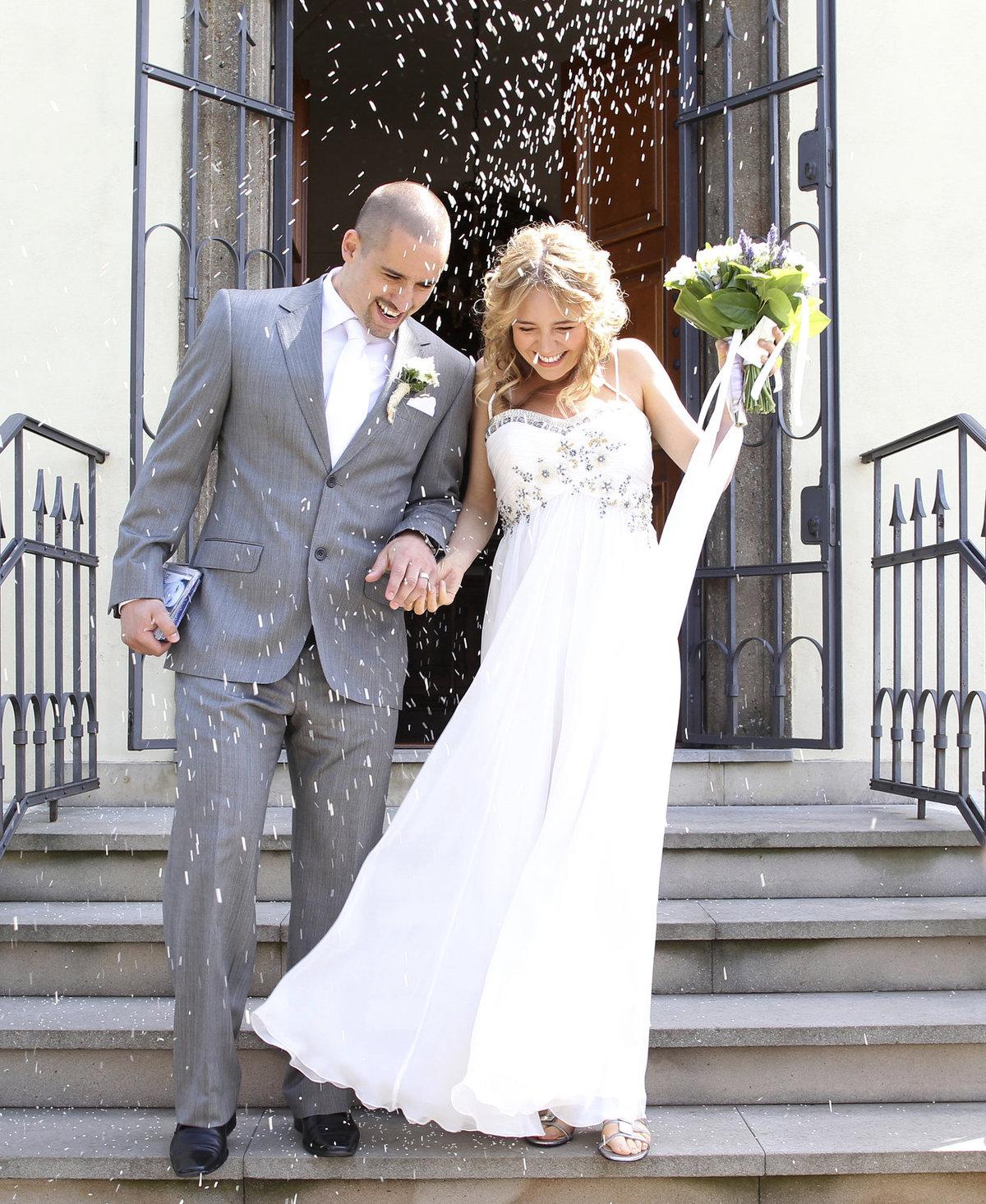 Lucie a Tomáš si řekli »ANO«v červnu v roce 2011, zpěvačka už byla v požehnaném stavu.