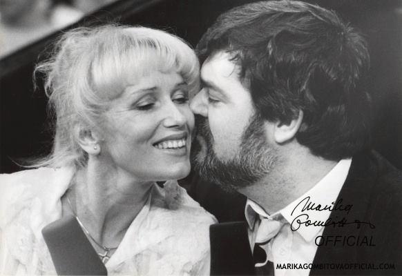 Marika Gombitová s Petrem Dvorským v prosinci 1992.