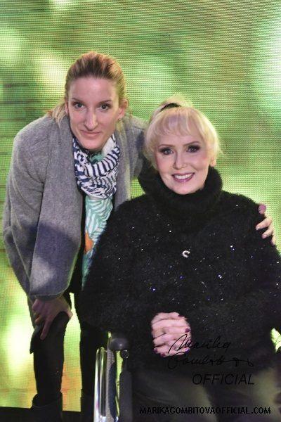 Marika Gombitová s Adélou Banášovou.