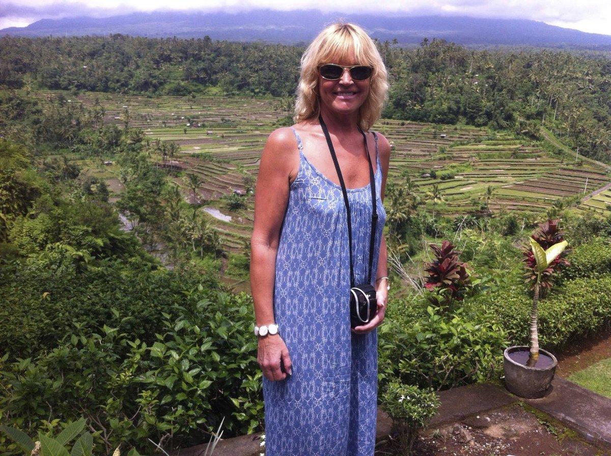 Zpěvačka se na Bali podívala i na rýžová pole.