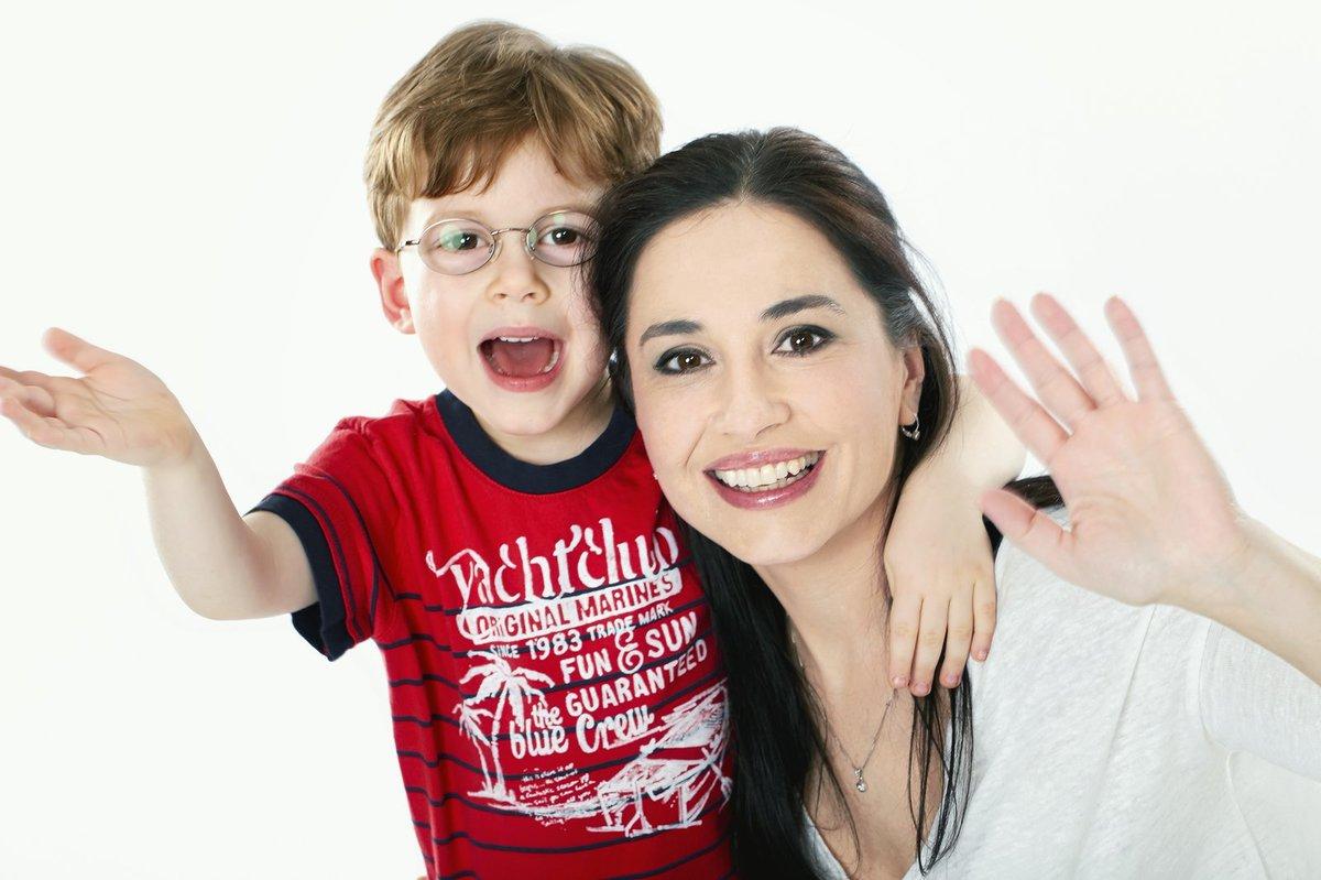 Michaela Kuklová se synem