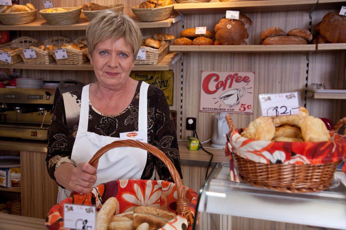 Jaroslava Obermaierová v roli  pekařky Nyklové.