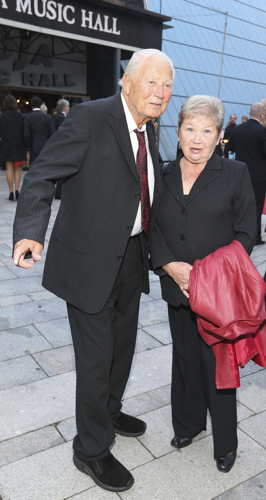 Karel Fiala s manželkou.