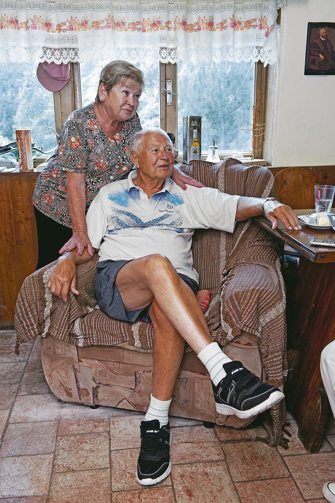 Limonádový Joe Karel Fiala s manželkou