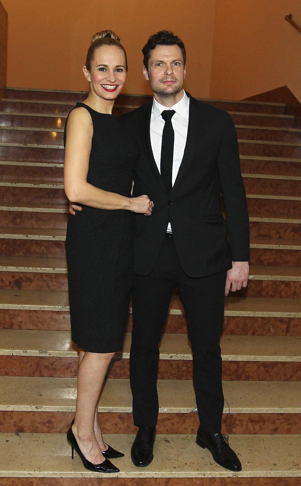 Monika se svým partnerem Tomášem Hornou.