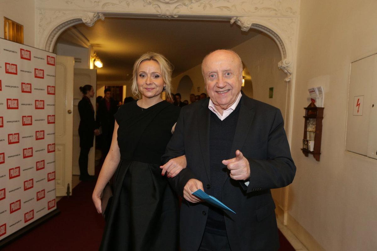 Felix Slováček s dcerou René
