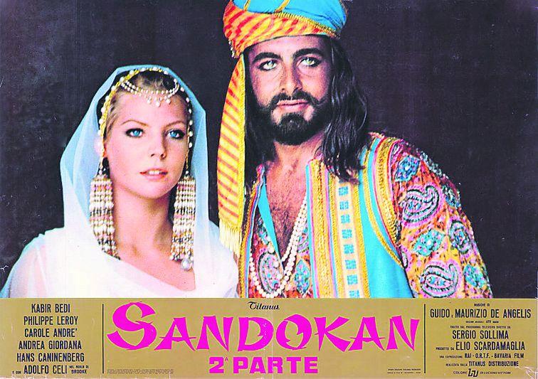 1975:  Sandokan a Marianna, hrdinové kultovního seriálu.