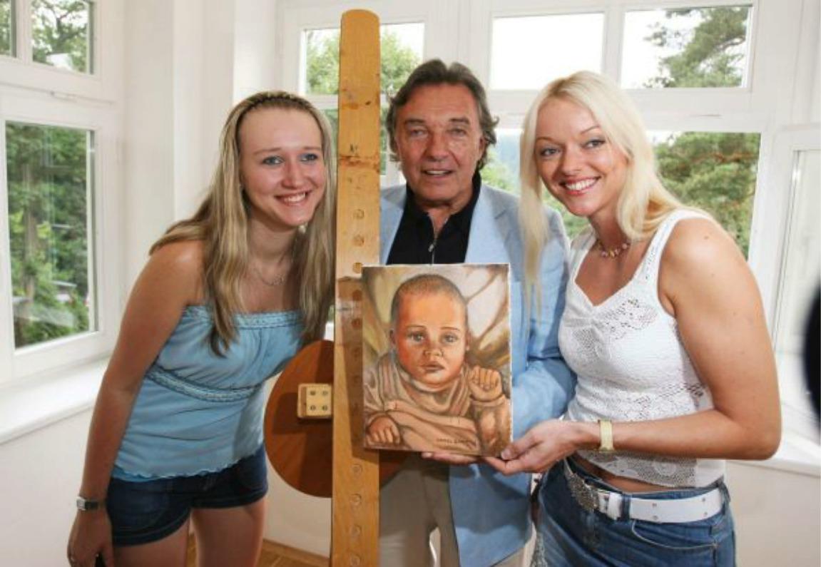 Karel Gott s dcerami Lucii a Dominikou.