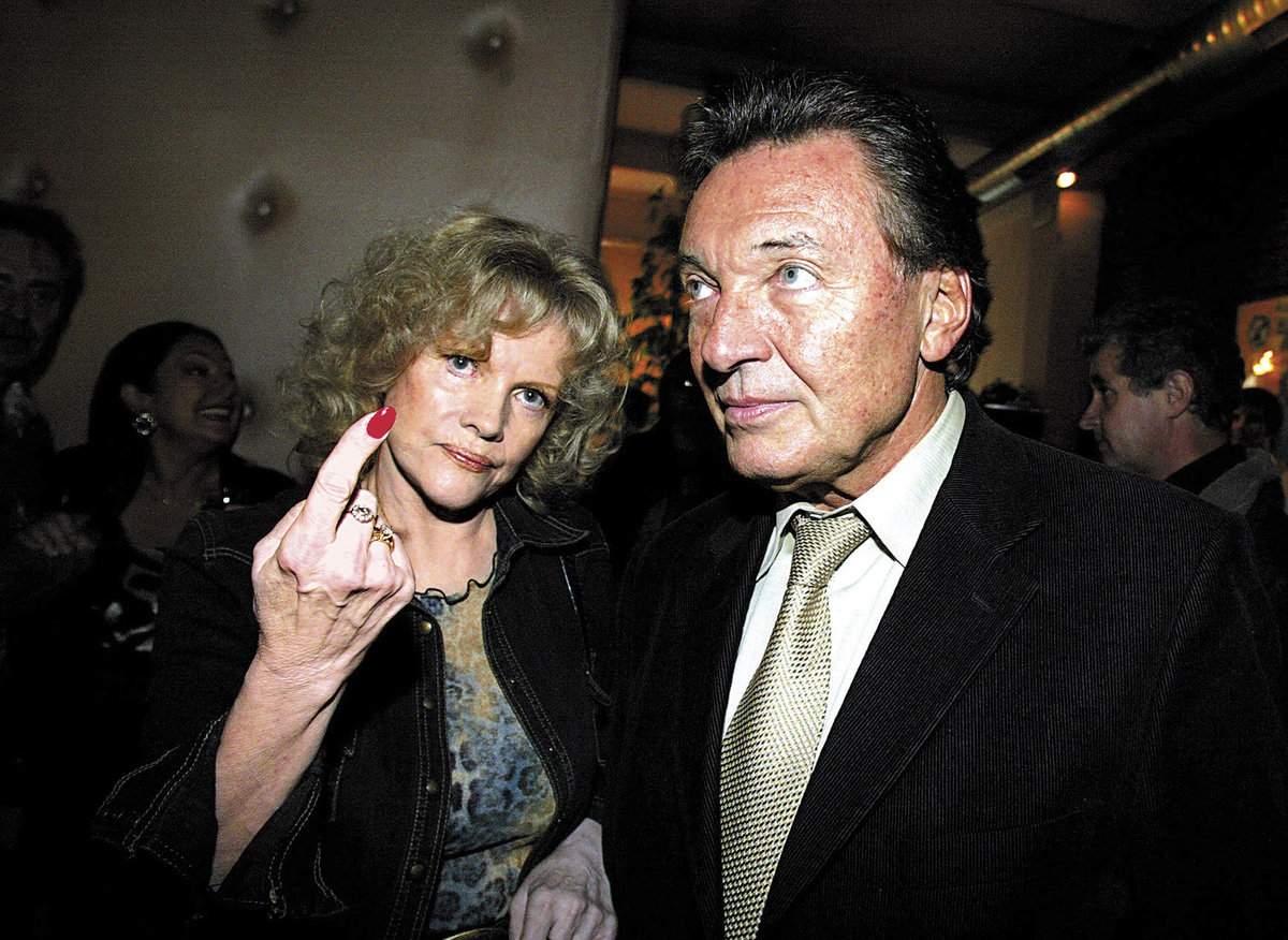 Eva Pilarová s Karlem Gottem.