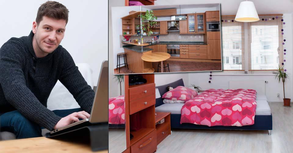 Televizní a rozhlasový moderátor Petr Říbal je sice z Mostu, bydlí ale na pražském sídlišti Barrandov, odkud to má do Snídaně s Novou velmi blízko.
