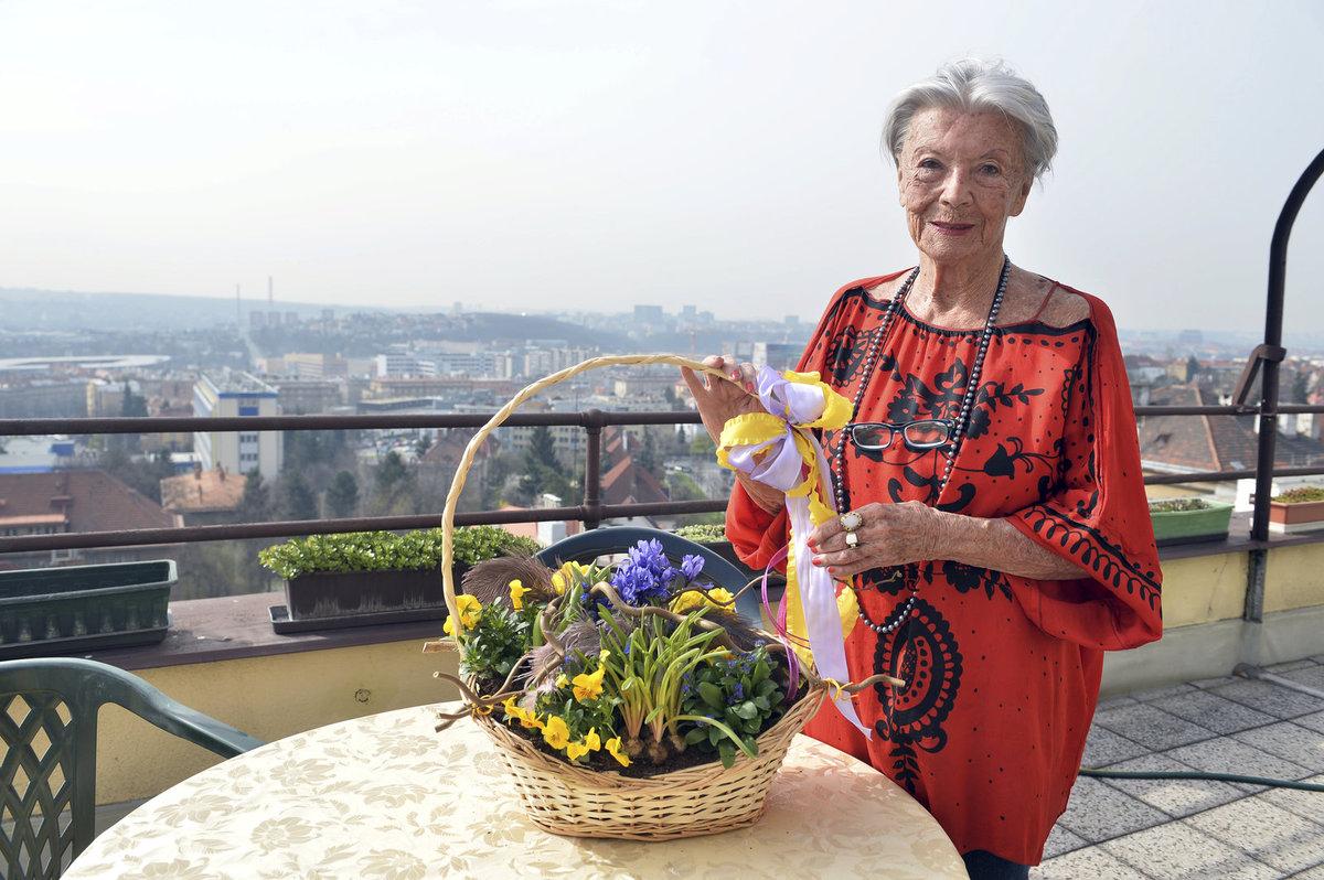 Herečka Zdenka Procházková