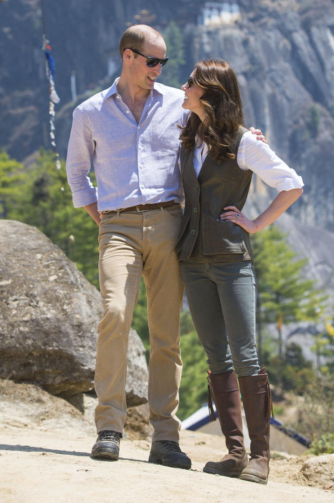 Princ William s manželkou Kate na návštěvě Bhútánu.