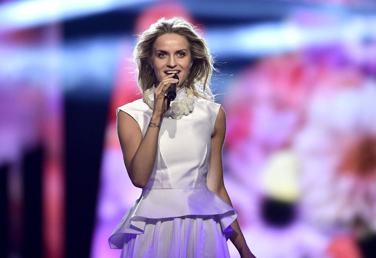 STOCKHOLM, ÚTERÝ Gabriela Gunčíková na semifinále Eurovize ve švédské metropoli.