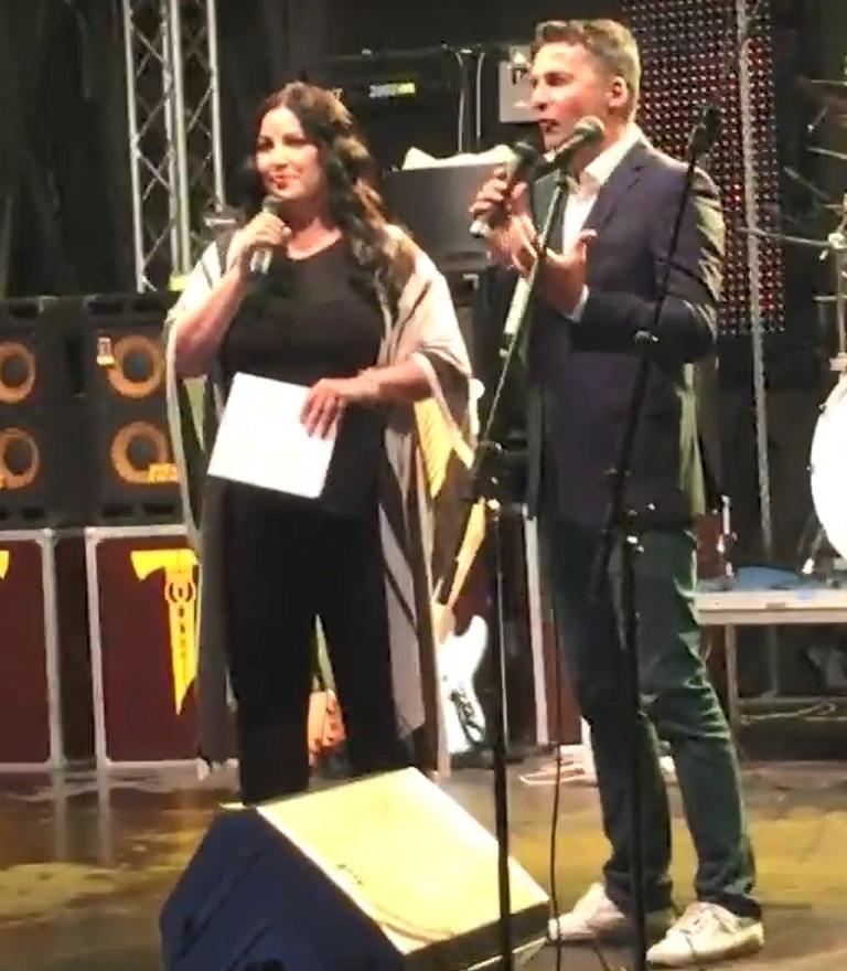 Ivana Christová na moderování Miss Domaša.