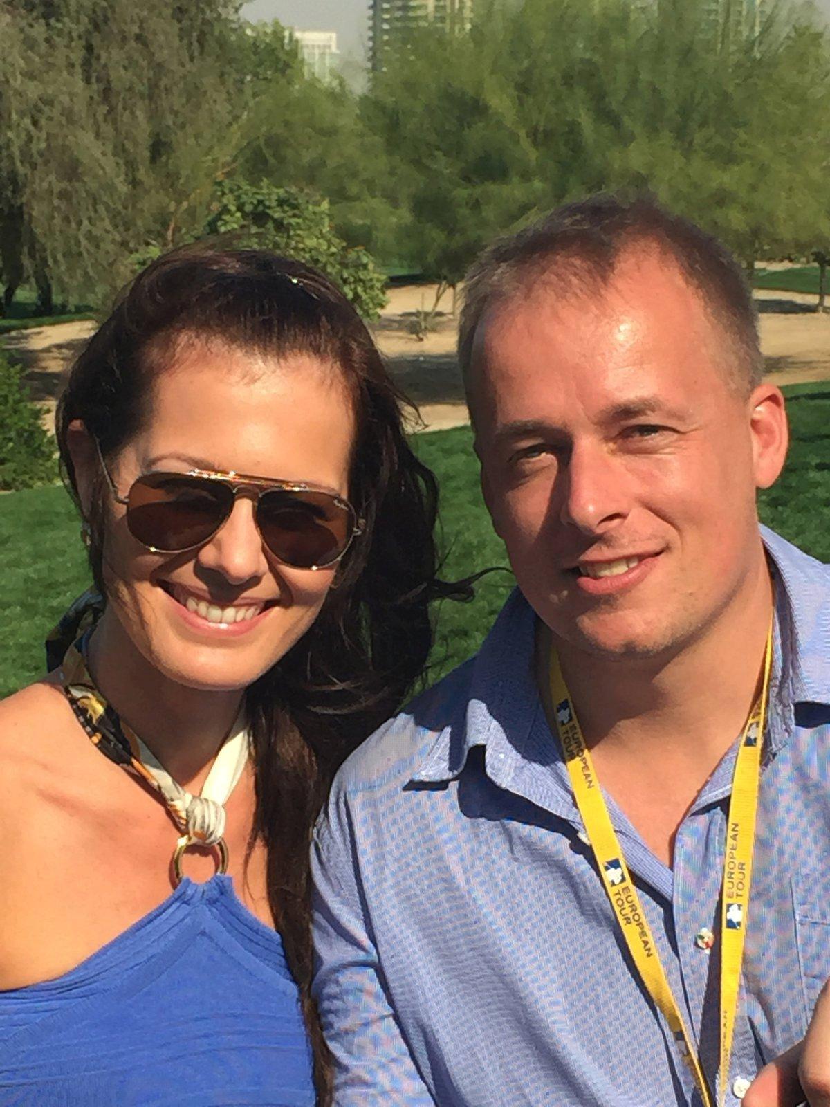 Jana Doleželová s bývalým partnerem Davidem.