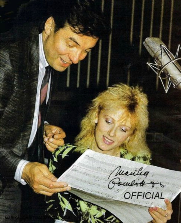 80. léta - Marika Gombitová a Karel Gott.
