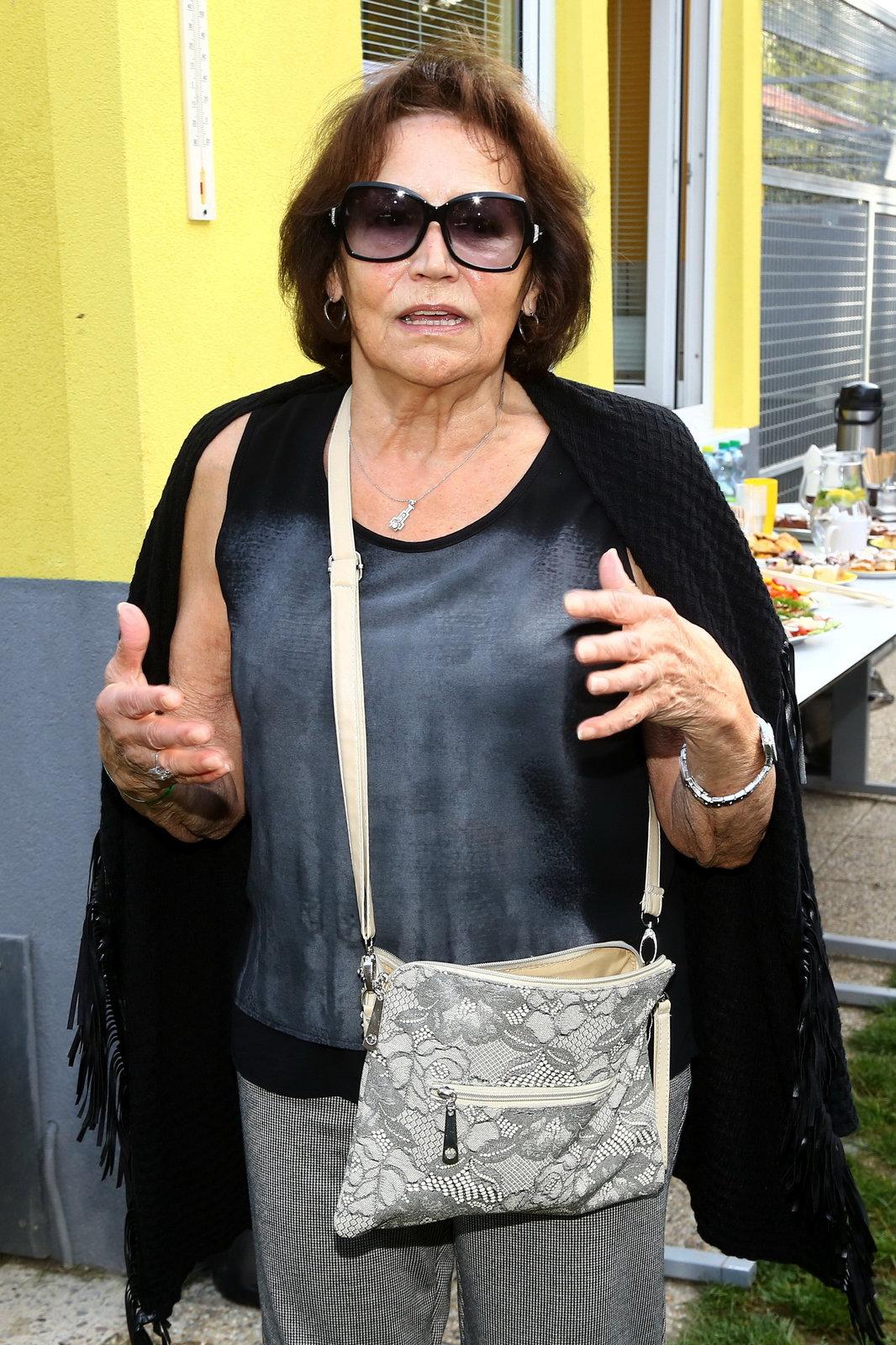 Marta Kubišová na charitativní akci Helppes.