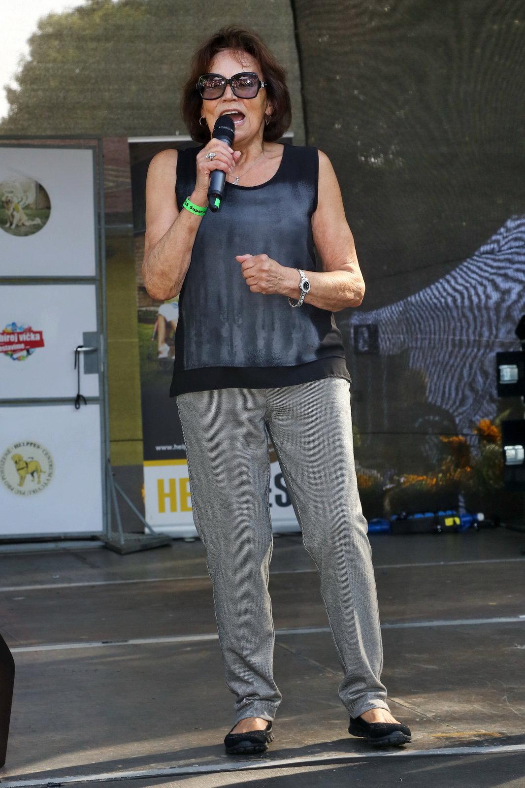 Marta Kubišová zazpívala pro postižené děti.
