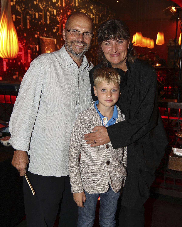 Zdeněk Pohlreich s manželkou Zdenou a synem Honzou