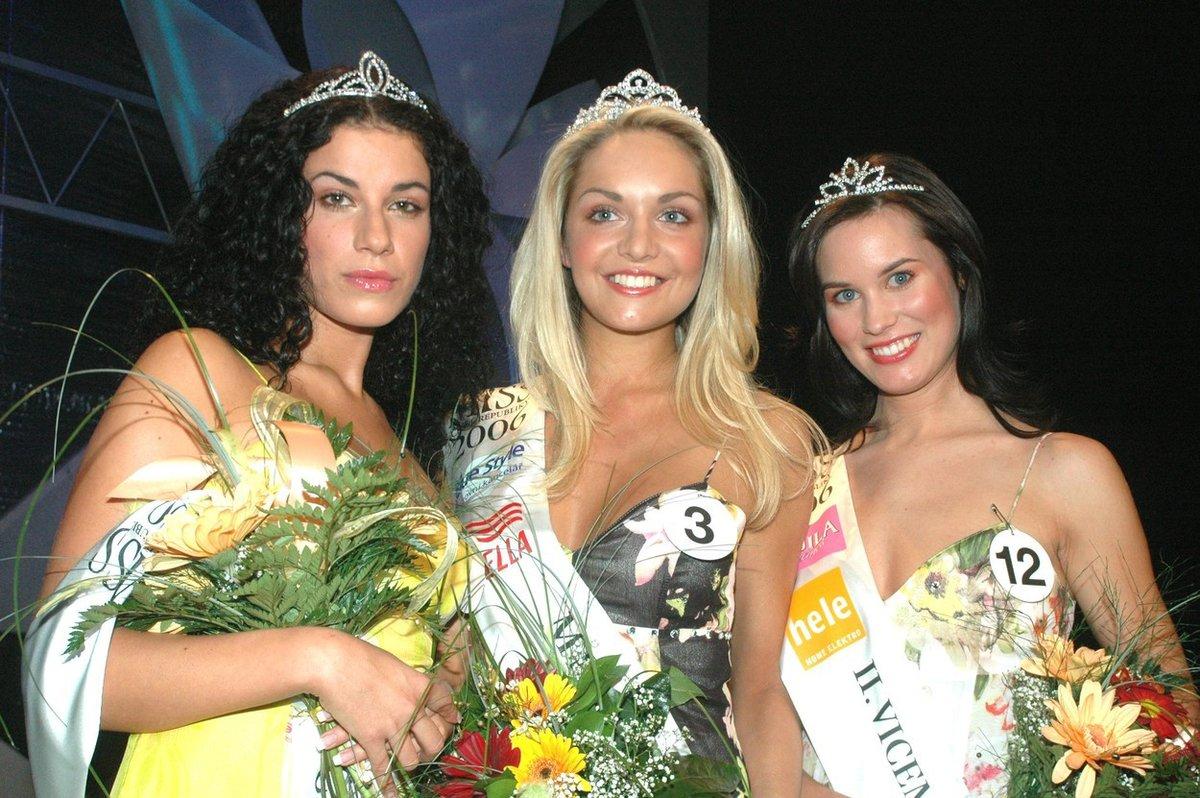 S Kateřinou Kunrátkovou a Denisou Šmídovou při vyhlášení Miss ČR v roce 2006.