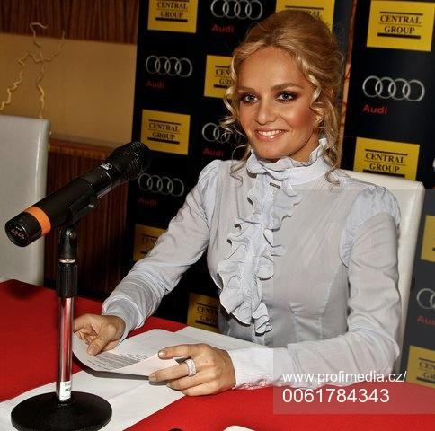 Taťána K. Gregor na Miss Česko-Slovensko v roce 2010.