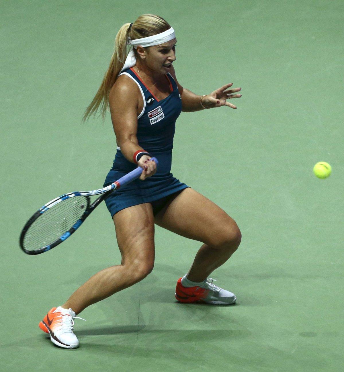 Dominika Cibulková během zápasu s Madison Keysovou