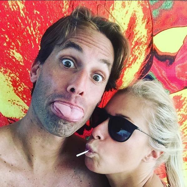 Andrea Hlaváčková na dovolené s přítelem Fabriziem Sestinim.