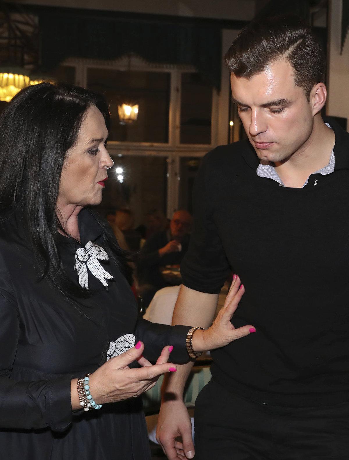 Hana Gregorová a Ondra Koptík se ukázali na křtu knihy Haliny Pawlowské.