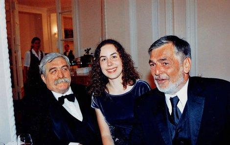Július Satinský s dcerou Luciou a Jiřím Bartoškou