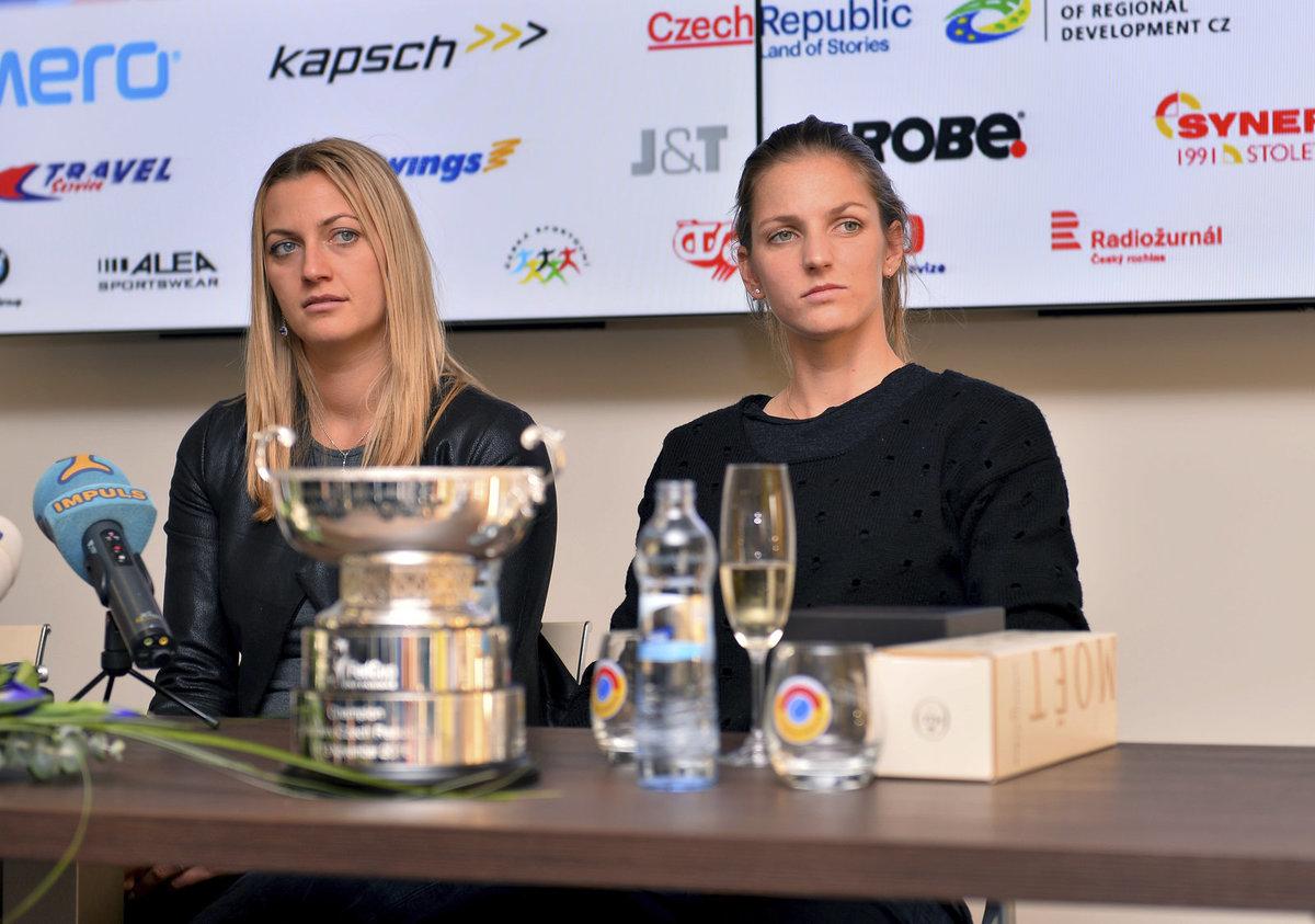 Karolína Plíšková s Petrou Kvitovou