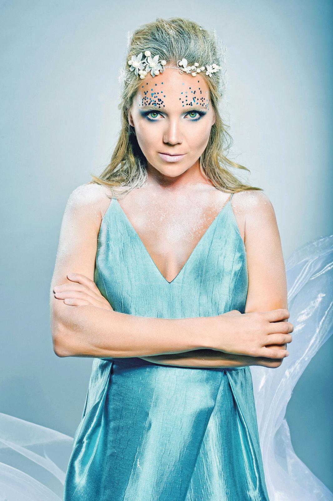 Lucie Vondráčková jako ledová královna.