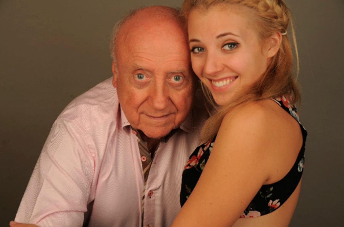 Felix Slováček s dcerou Annou