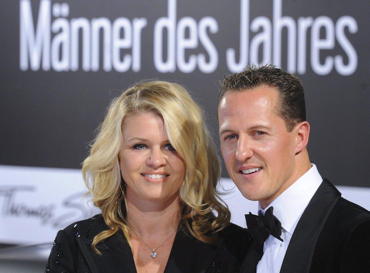 Michael Schumacher s manželkou Corinnou.