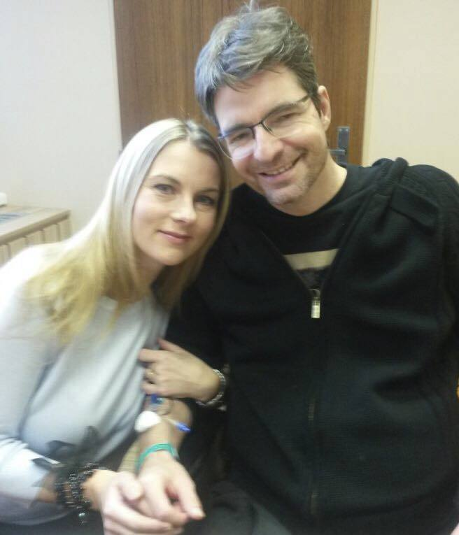 Kolegyně Karla Mráčková navštívila svého kolegu Michala Jančaříka