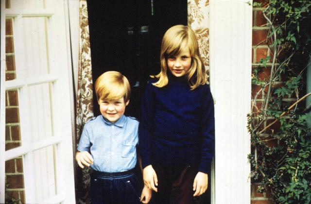 Diana s bratrem v roce 1968.