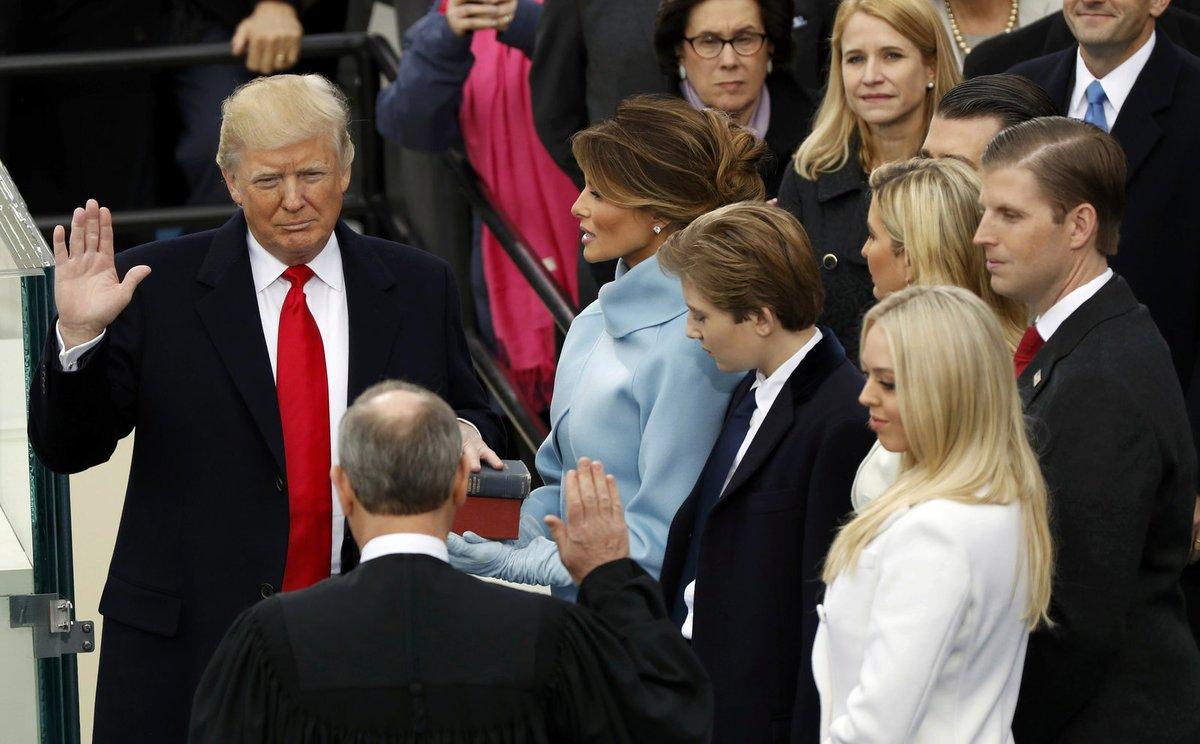 Trump se stal 45. prezidentem USA.
