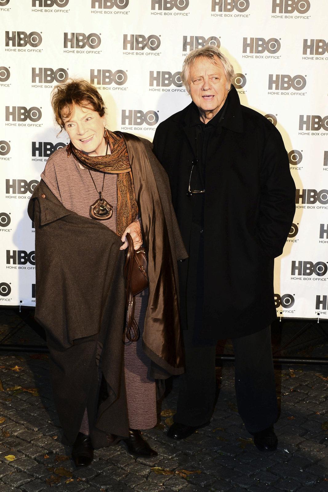 Vlasta Chramostová s manželem, kameramanem Stanislavem Milotou.