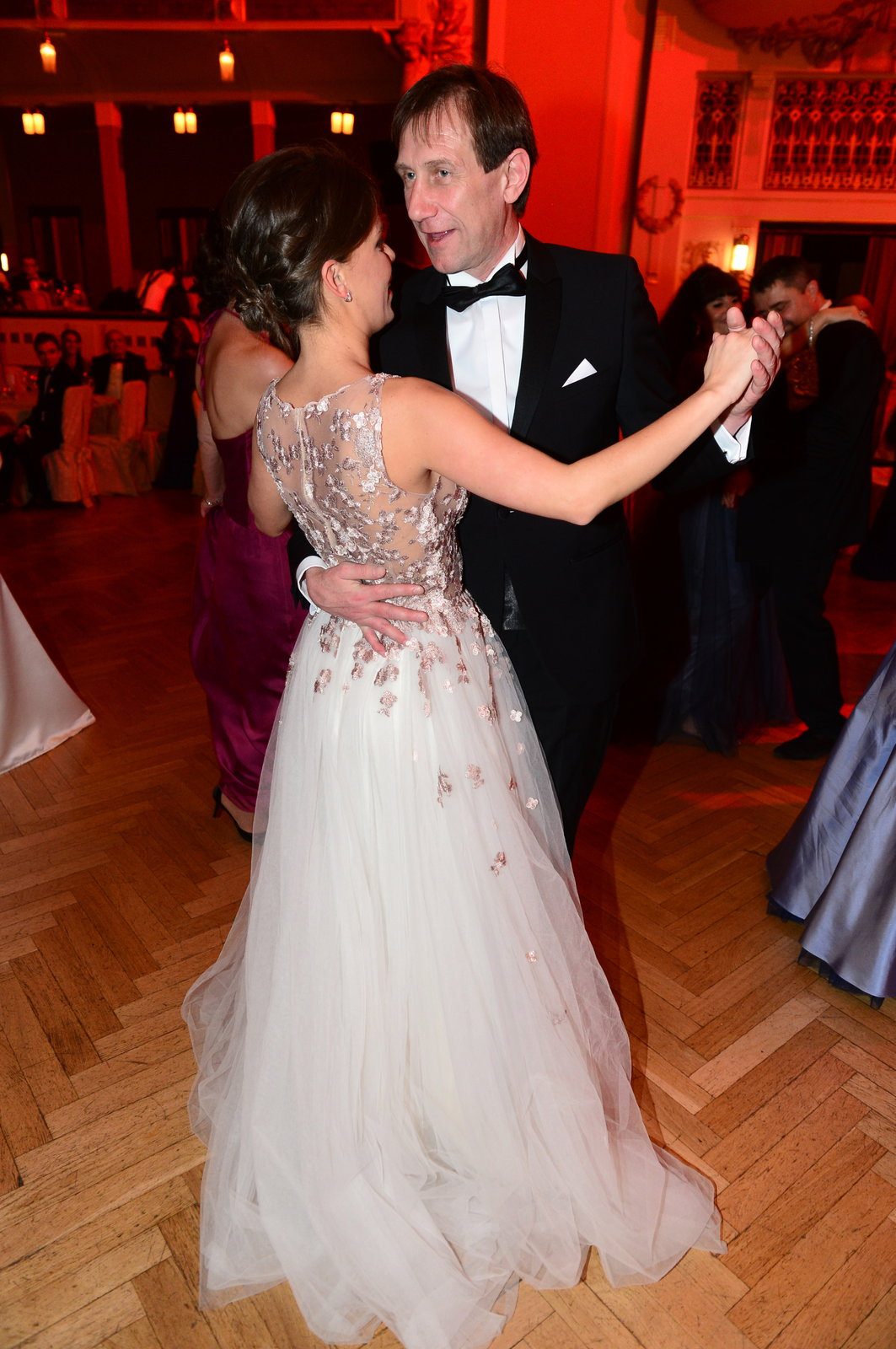 Jan Antonín Duchoslav s partnerkou na Česko-Slovenském plese