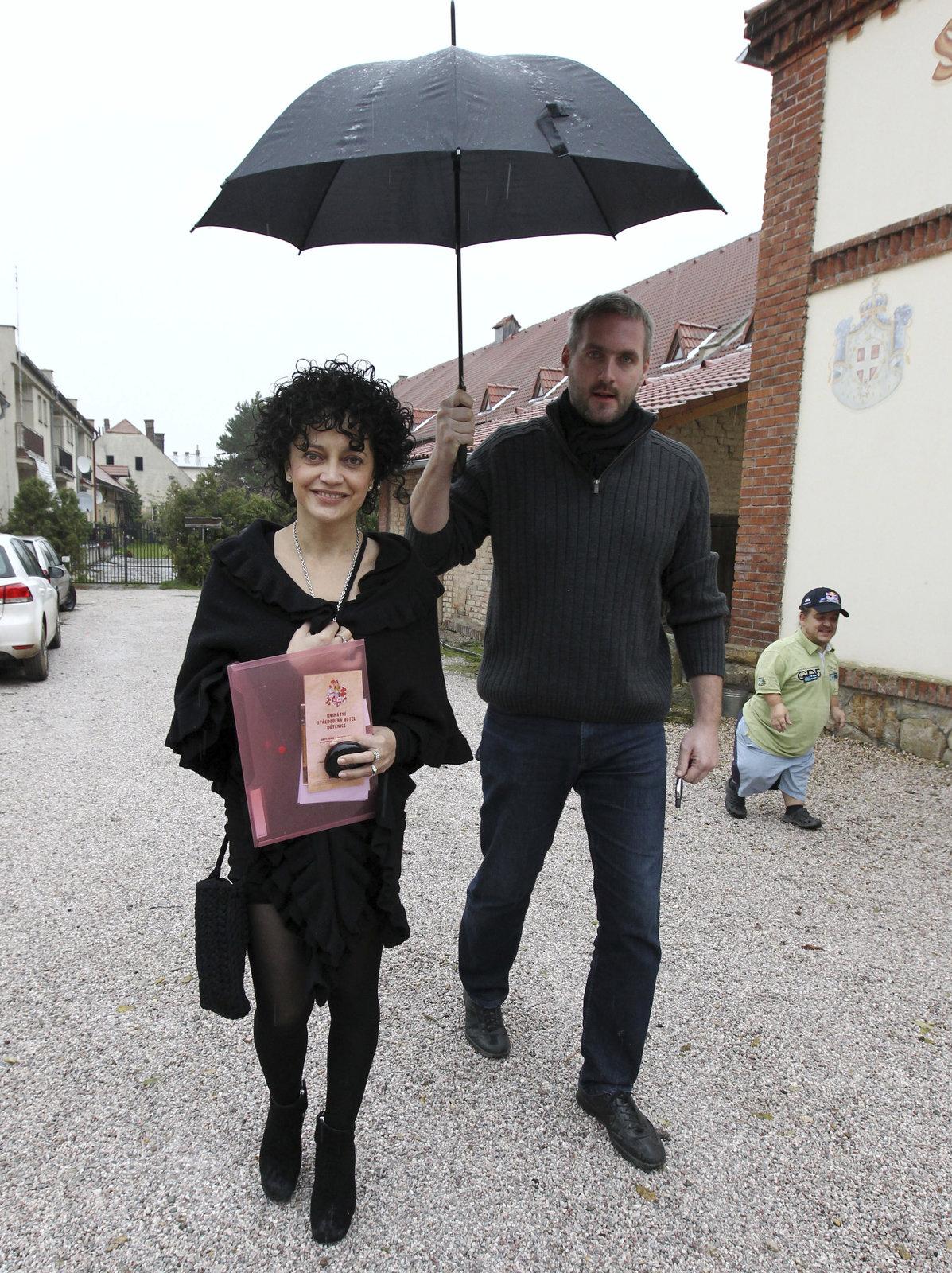 Lucie Bílá a Petr Makovička.