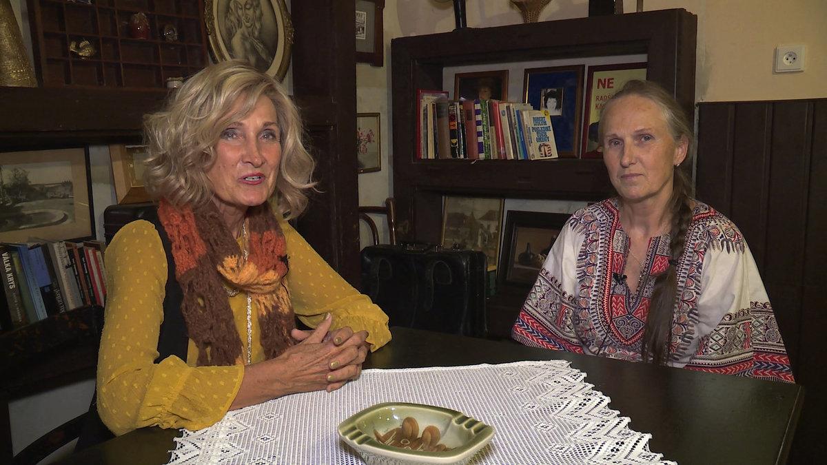 Zuzana Bubílková s vnučkou Jindřicha Plachty Ivanou Trpákovou.