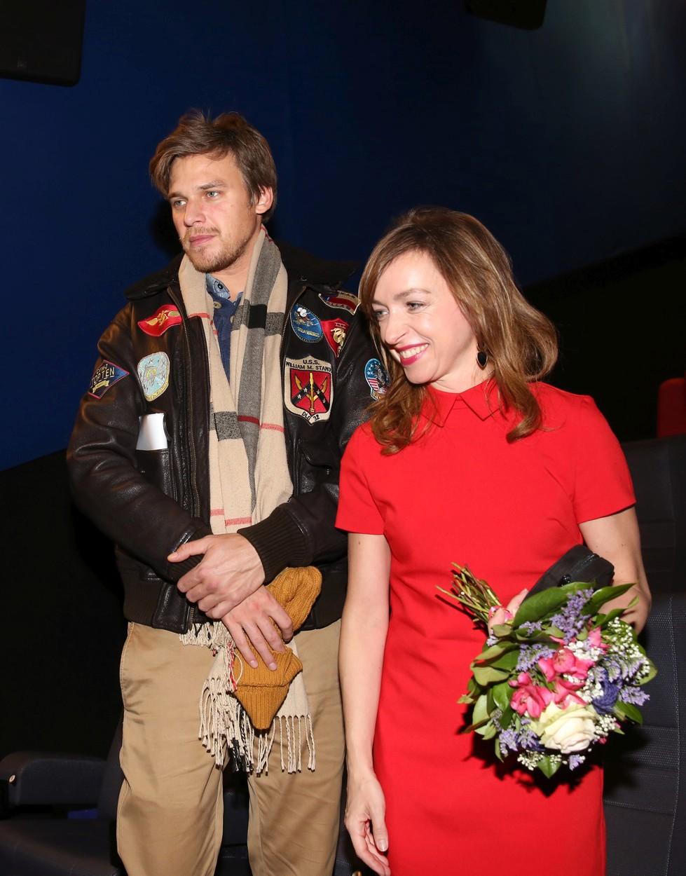 2017: Tatiana Vilhelmová s Vojtou Dykem na premiéře filmu Bába z ledu