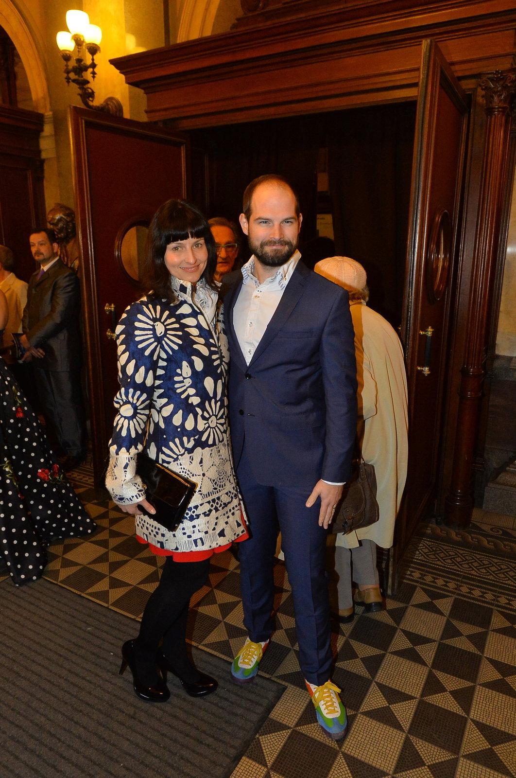 Jan Maxián s manželkou